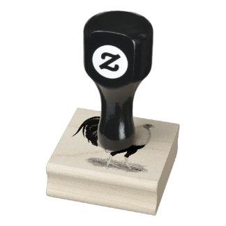 Sello De Caucho Gallo de pelea de plata de Duckwing