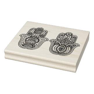 Sello De Caucho Hamsa dibujado mano con los ornamentos