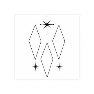 Sello De Caucho Ilustracion moderno de Starburst de los diamantes
