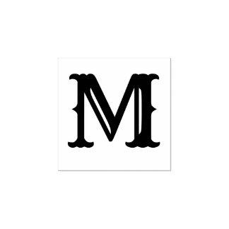 Sello De Caucho Letra personalizada personalizado de la inicial
