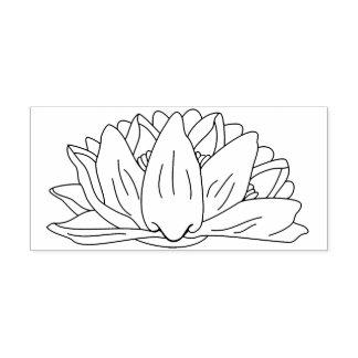 Sello De Caucho Línea floral ilustracion de la flor del lirio de