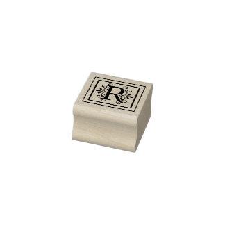 Sello De Caucho Monograma de la letra R