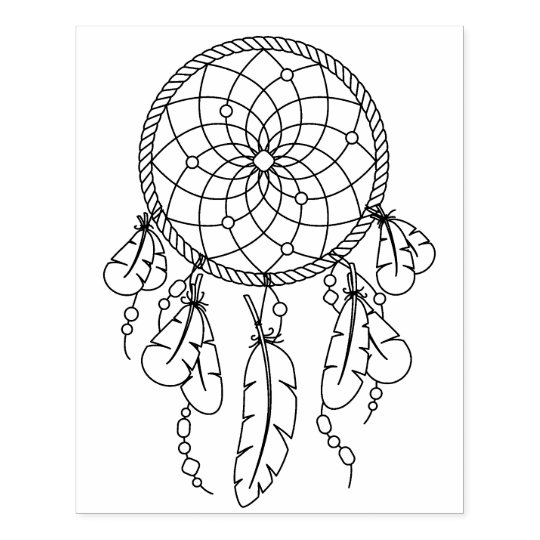 Sello De Caucho Página tribal del colorante de Dreamcatcher Boho ...