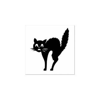 Sello De Caucho Personalizado del gato de Halloween