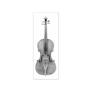 Sello De Caucho Reproducción grabada al agua fuerte violín de la