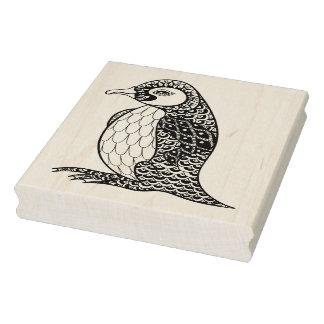 Sello De Caucho Rey pingüino artístico Zendoodle