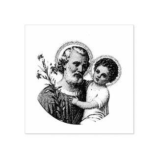 Sello De Caucho San José con el bebé Jesús