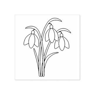 Sello De Caucho Snowdrops - flores de la primavera