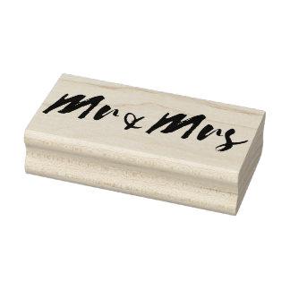 Sello De Caucho Sr. y señora tipografía de la boda de la palabra