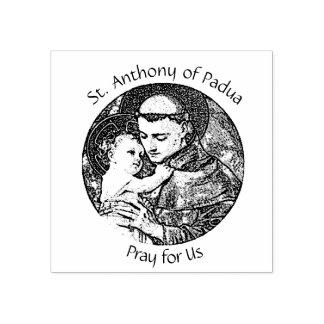 Sello De Caucho St Anthony de Padua con el bebé Jesús