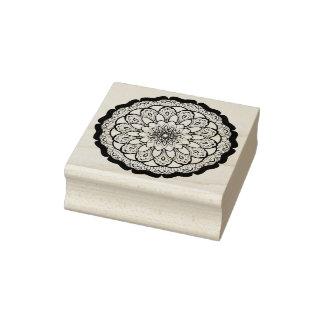 Sello De Caucho Yoga floral de la mandala de la flor de los