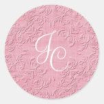 Sello de encargo rosado elegante del sobre del etiqueta redonda