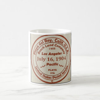 Sello de goma 1904 de la oficina de correos de Pla Tazas