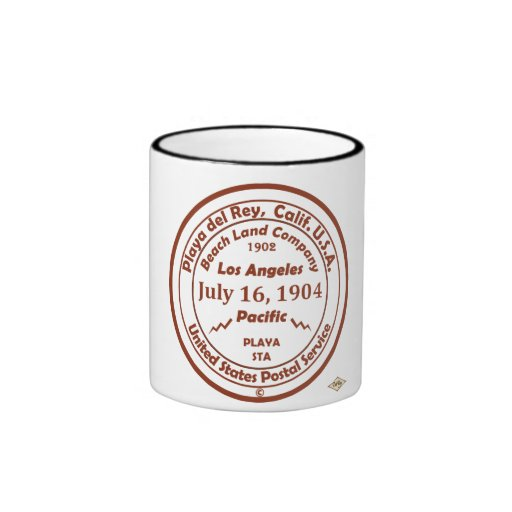 Sello de goma 1904 de la oficina de correos de Pla Taza