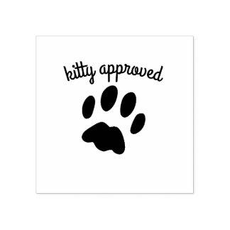 Sello de goma aprobado del gatito de la impresión