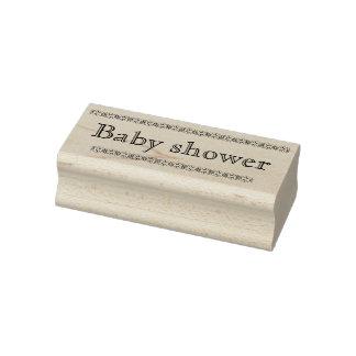 Sello de goma de la fiesta de bienvenida al bebé