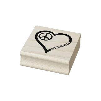 Sello de goma de la gimnasia del amor de la paz