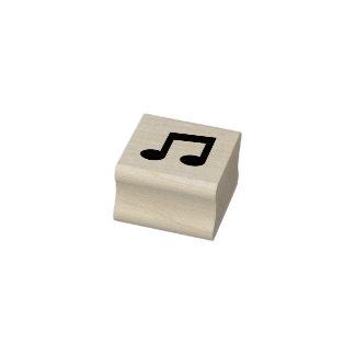 Sello de goma de la nota de la música