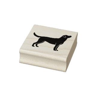 Sello de goma de la silueta del perro del labrador