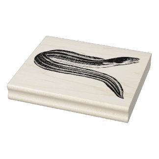 Sello de goma del arte de la anguila del vintage