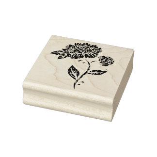Sello de goma del arte de la flor del vintage