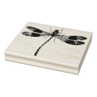 Sello de goma del arte de la libélula del vintage