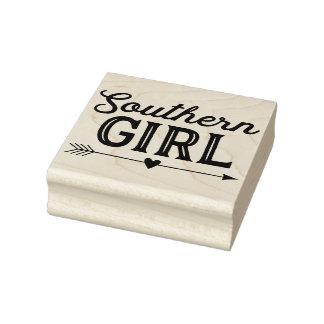 Sello de goma del arte del chica meridional