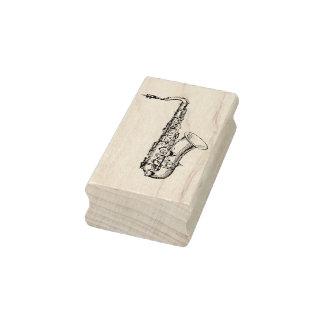 Sello de goma del arte del saxofón