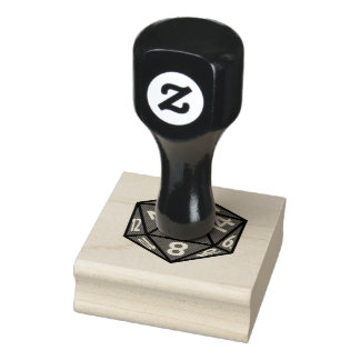 Sello de goma del icono del RPG de los dados D20