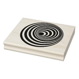 Sello de goma espiral del arte de la ilusión
