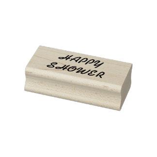Sello de goma feliz de la ducha, sello de la