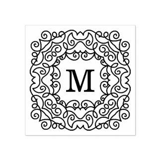 Sello de goma moderno del monograma de la alegría