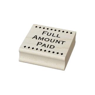 """Sello de goma pagado básico de la """"cantidad"""
