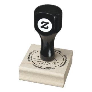 Sello de goma redondo del remite del monograma de