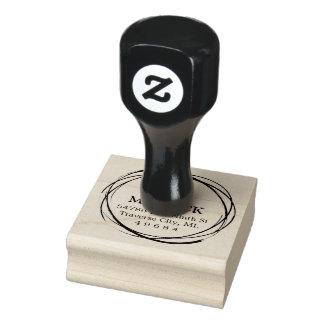 Sello de goma rústico del remite del monograma del