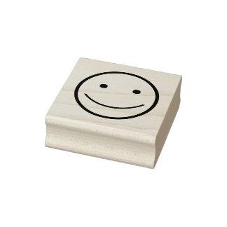 Sello de goma sonriente de la cara