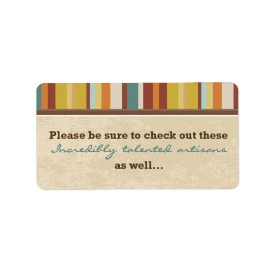 Sello de la bolsa de la tarjeta de visita (para etiqueta de dirección