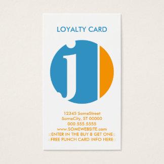 sello de la lealtad del agolpamiento del color tarjeta de negocios