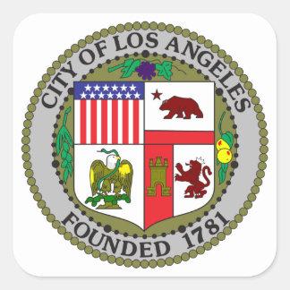 Sello de Los Ángeles Pegatina Cuadrada