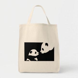 sello de los osos de panda bolsa de mano