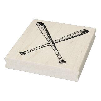 Sello de madera cruzado del arte de los bates de