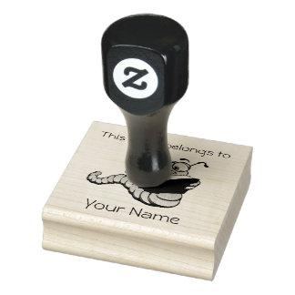 Sello de madera del diseño del Bookplate del ratón