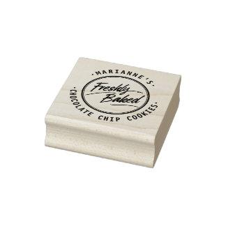 Sello de madera personalizado recientemente cocido