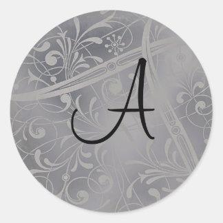 Sello de plata del sobre del monograma
