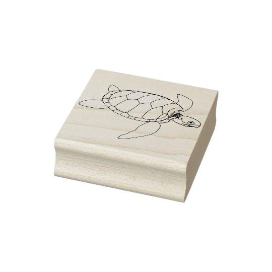 sello del arte del ejemplo de la tortuga de mar
