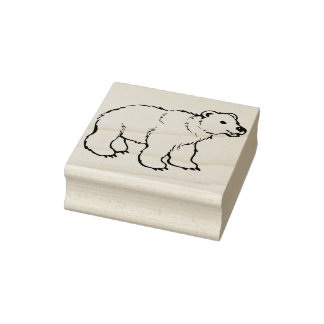 sello del arte del ejemplo del oso polar del bebé