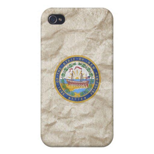 Sello del estado de New Hampshire iPhone 4 Carcasas