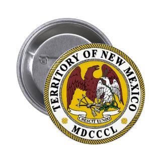 Sello del estado de New México Chapa Redonda De 5 Cm