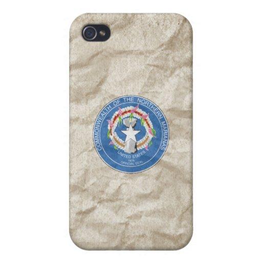 Sello del estado de Northern Mariana Islands iPhone 4 Carcasas