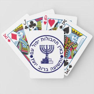 Sello del logotipo de Mossad (הַמוֹסָד) Baraja De Cartas Bicycle
